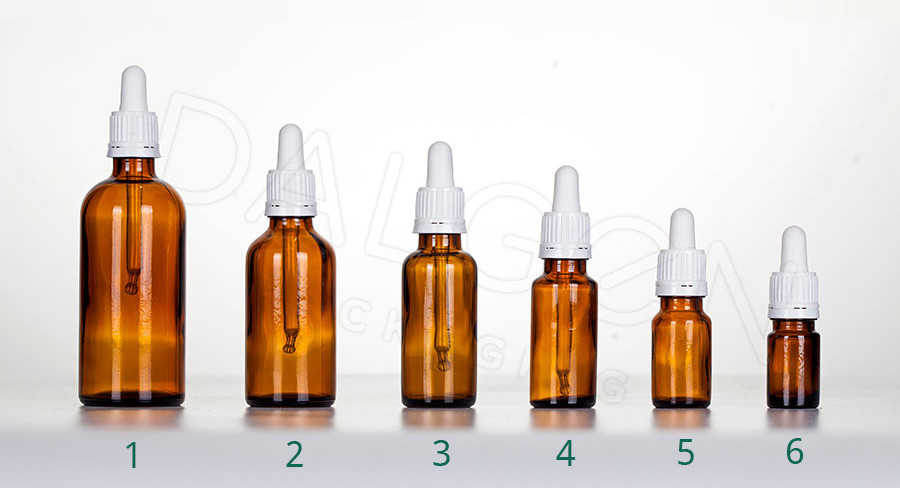 HOMEOPATHIC BOTTLES - WHITE PIPETTES