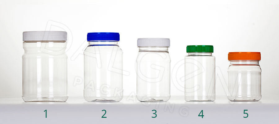PET PLASTIC JARS & CLOSURES