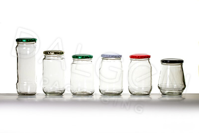 MEDIUM-LARGE GLASS JARS