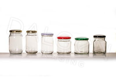 SMALL-MEDIUM GLASS JARS