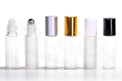 GLASS ROLL ON BOTTLE WITH CAP