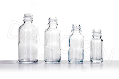 CLEAR GLASS HOMEOPATHIC BOTTLES
