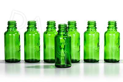 GREEN CBD GLASS HOMEOPATHIC BOTTLES