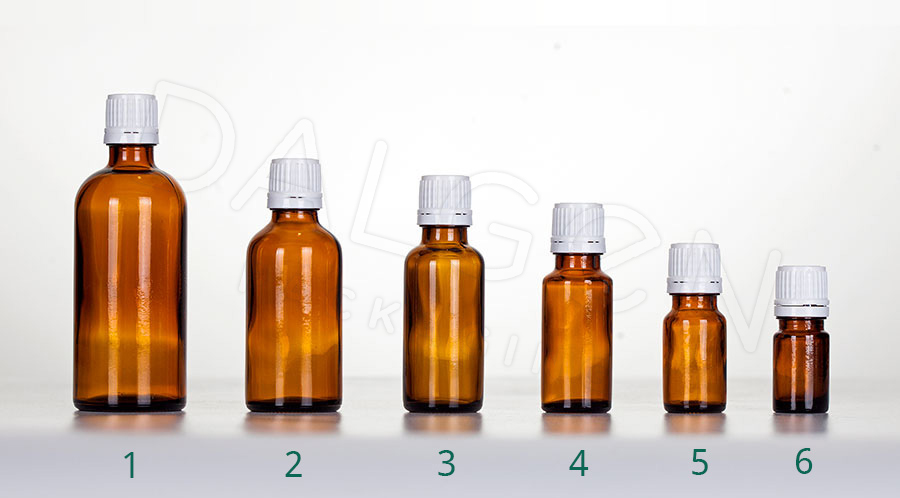 HOMEOPATHIC BOTTLES - WHITE CAPS