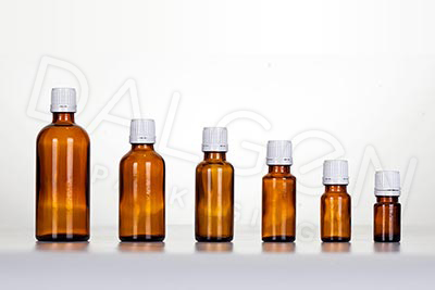 GLASS HOMEOPATHIC BOTTLES - WHITE CAPS
