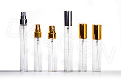 PERFUME VIALS WITH SPRAYS AND CAPS