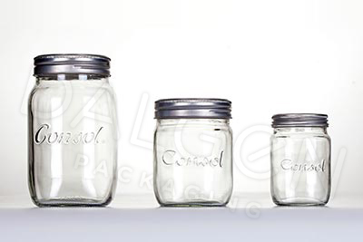 GLASS PRESERVE JARS