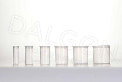 PLASTIC FLIP TOP VIALS CLEAR